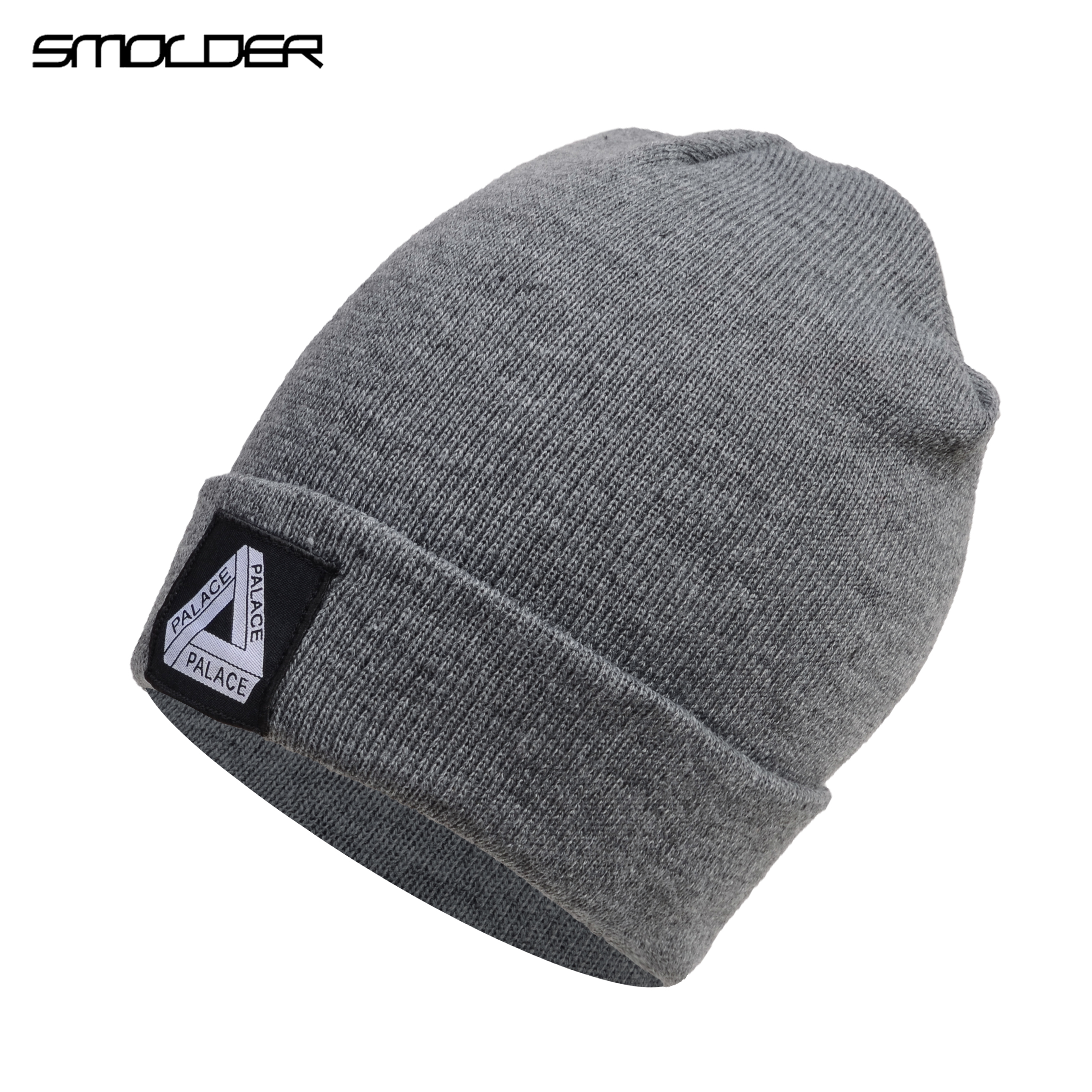 [SMOLDER]Wash Label   Beanie   Hat Autumn Outdoor Keep Warm Knit   Beanie   Hat Cuff   Beanie   Watch Cap Winter Skull Hats for Men Women