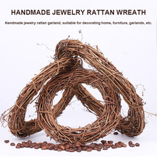 New Hot Retro Christmas Wreath Hang Natural Garland Dried Rattan Xmas Home Wall Decor