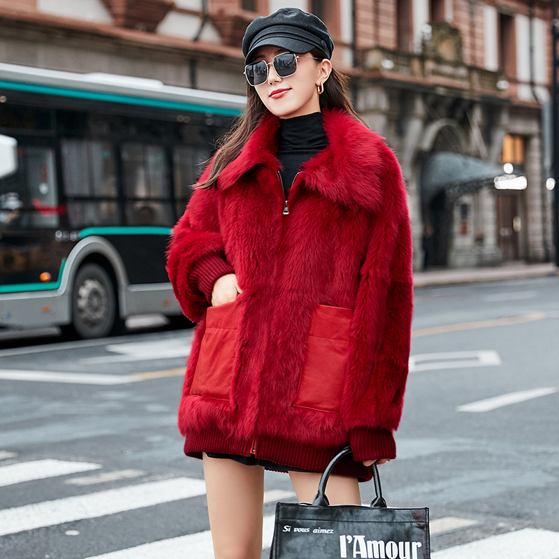 Natural Real Fur Coat Female Genuine Leather Jacket Winter Coat Women Clothes 2020 Korean Vintage Double-faced Fur Tops ZT4263