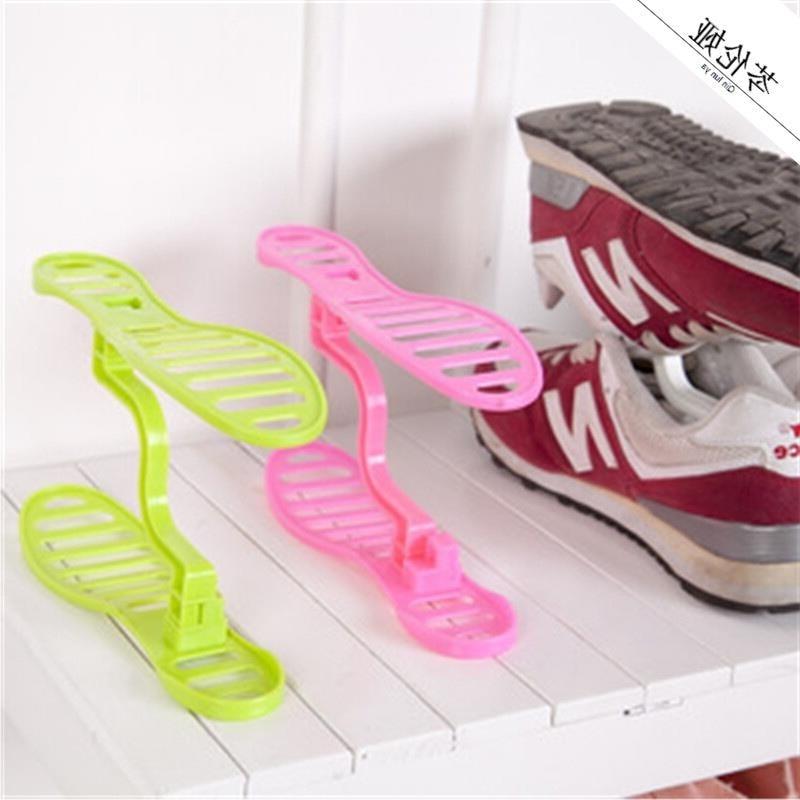 Organizador de móveis para casa, 1 par de espaço criativo, economize espaço, plástico, organizador de sapatos, prateleira, rack de sapato unissex xj001