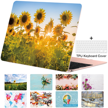 Case for Macbook Pro 13 15 16 Air 13 11 12 Art Sunflower Print Cover Retina Touch Bar Shell Design Picture A2251 A2289 fuwatacchi design picture here print