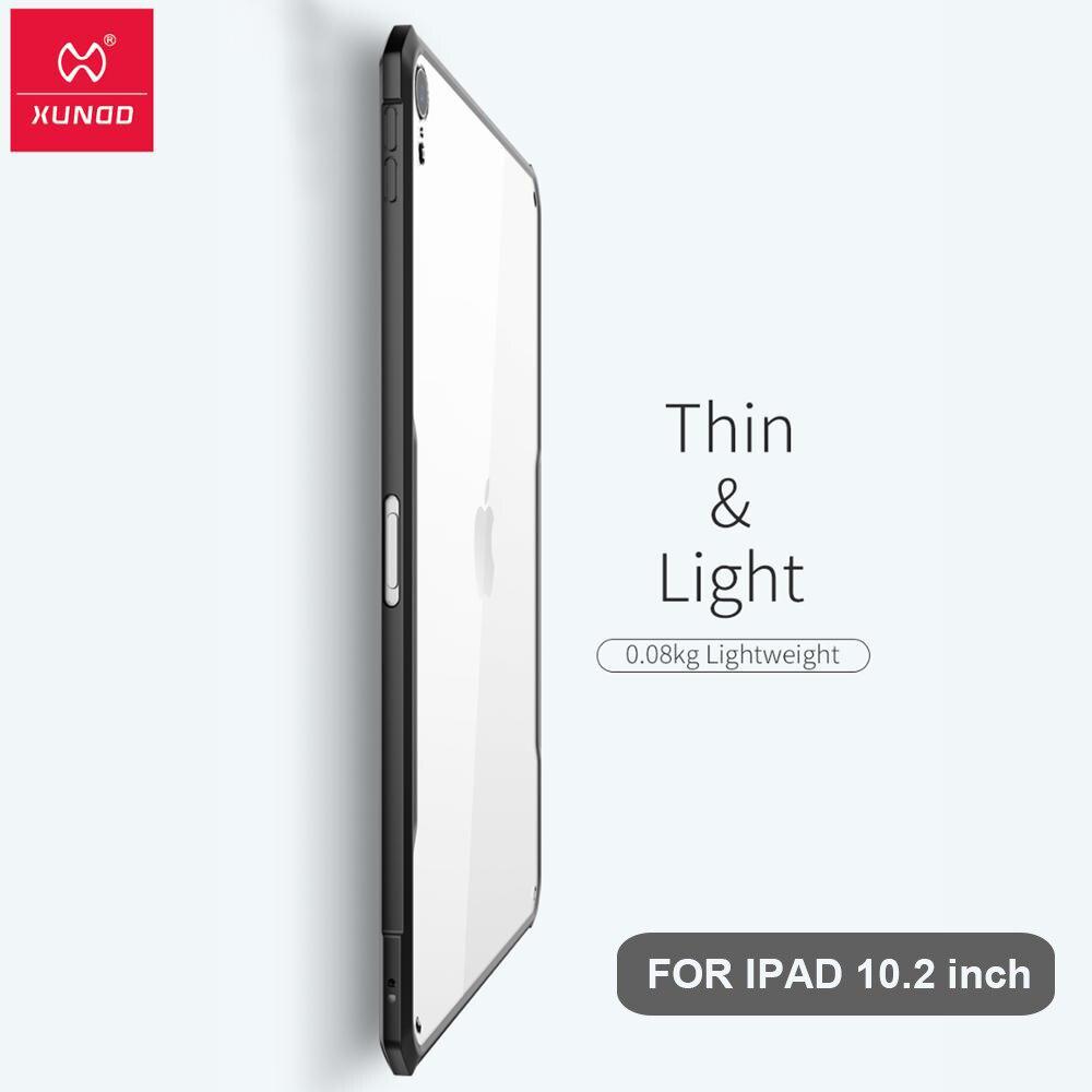 Funda protectora para Tablet Xundd para iPad de Apple de 10,2 pulgadas funda para iPad nueva bolsa de aire a prueba de golpes funda suave inteligente funda transparente Shel