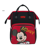 Disney Genuine Diaper Bag Mickey Backpack Lady Large Capacity Waterproof Shoulder Bags Cartton Minnie Handbag Hung Stroller