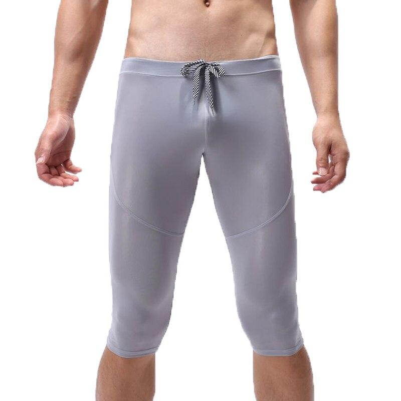 Men Sexy Sleep Shorts Jogging Sweatpants Sports Leggings Male Shorts Pyjama Homme Sleepwear Seamless Sexy Underwear Lounge Pants