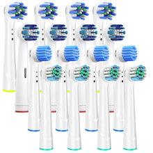 Cabeças da escova de dentes da substituição de 16 pces para a escova de dentes oral b cabeças comapitble macio sensível com bual-b braun toothrbush elétrico
