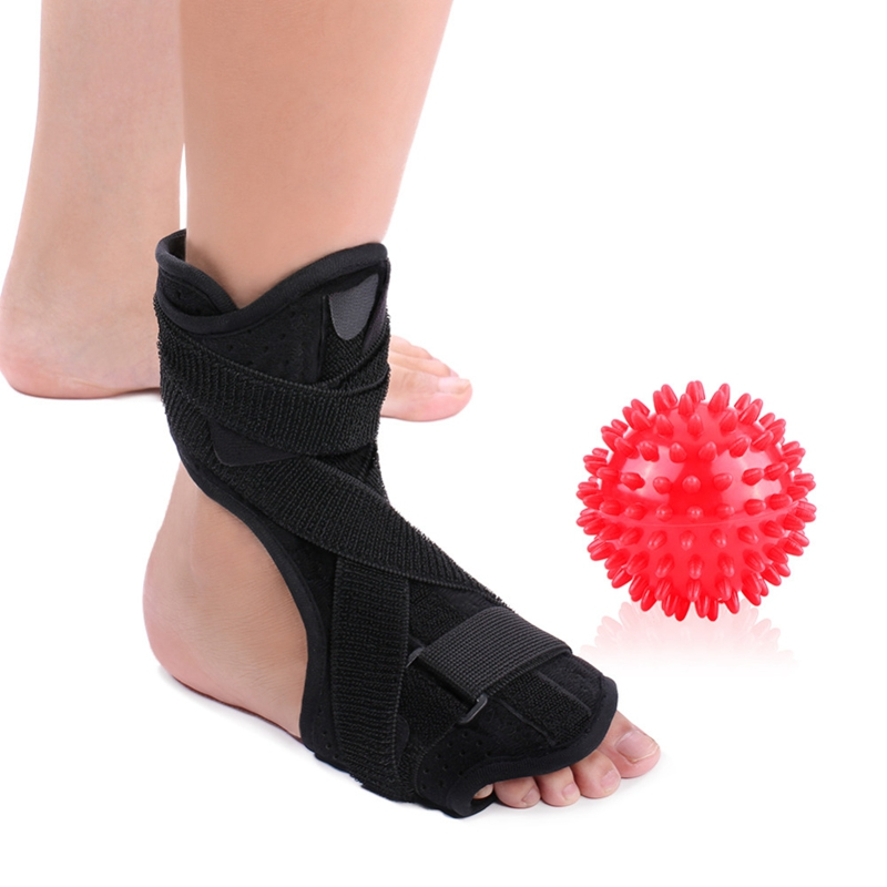Ankle Splint Support With Spiky Massage Ball Ankle Protector Plantar Fasciitis Foot Orthosis Stabilizer Braces Ankle Support