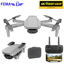 FEMA Mini Wifi FPV Drones with Wide Angle Camera HD 4K 1080P Hight Hold Foldable RC Quadcopter Drone X Pro RTF Dron for Gift цена 2017
