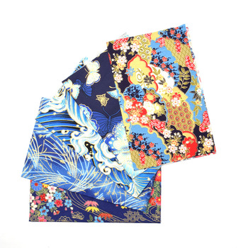 5pcs 20x25cm Japanese Printed Cotton Fabric Bundle For Sewing Dolls &Bags, Quilting material DIY Patchwork Needlework 5