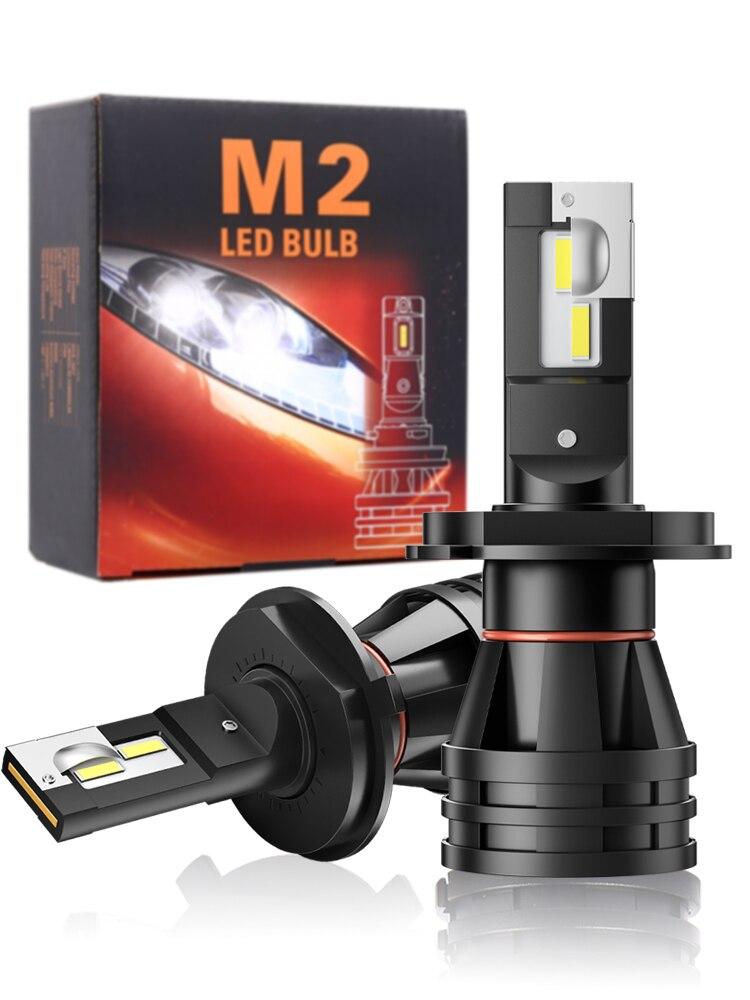 Car-Headlight Lens Led-Lamp Turbo H27 H11 M2 Led H4 H8 9012 Motorcycle High-Beam 9005