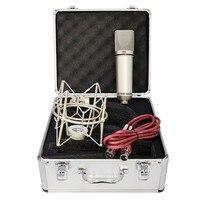 Micrófono condensador U87 para estudio profesional, amplificador de diafragma grande para grabación de voz de ordenador, PC, Podcast, juegos, Tiktok, DJ