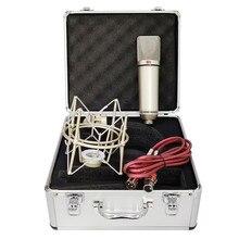 ميكروفون U87 مكثف احترافي للاستوديو مكبر صوت كبير للكمبيوتر تسجيل صوتي للحاسوب بودكاست للألعاب من Tiktok DJ