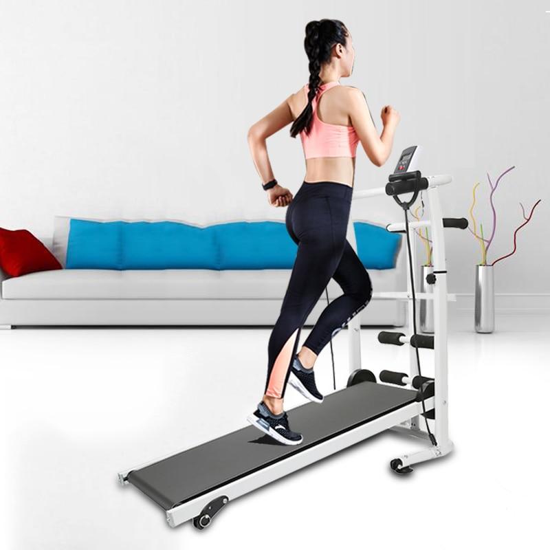 2020 New Treadmill Folding Mechanical Treadmill Fitness Treadmill Manuell Laufband Multi-function Fitness Gym Equipment HWC