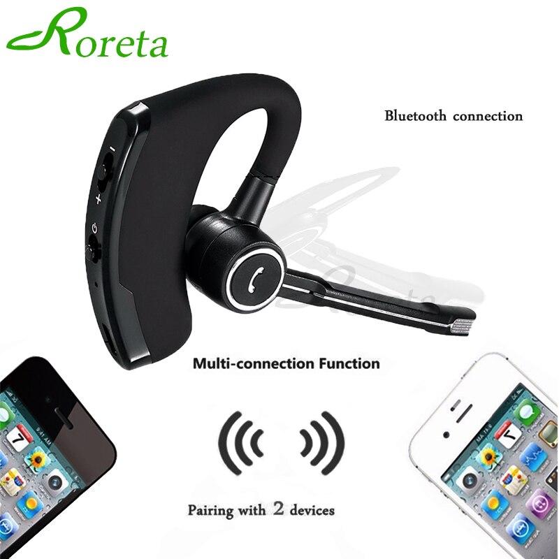 Roreta, стерео, беспроводные, Bluetooth наушники, громкая связь, бизнес гарнитура с микрофоном, музыкальные наушники для iPhone, IOS, Android