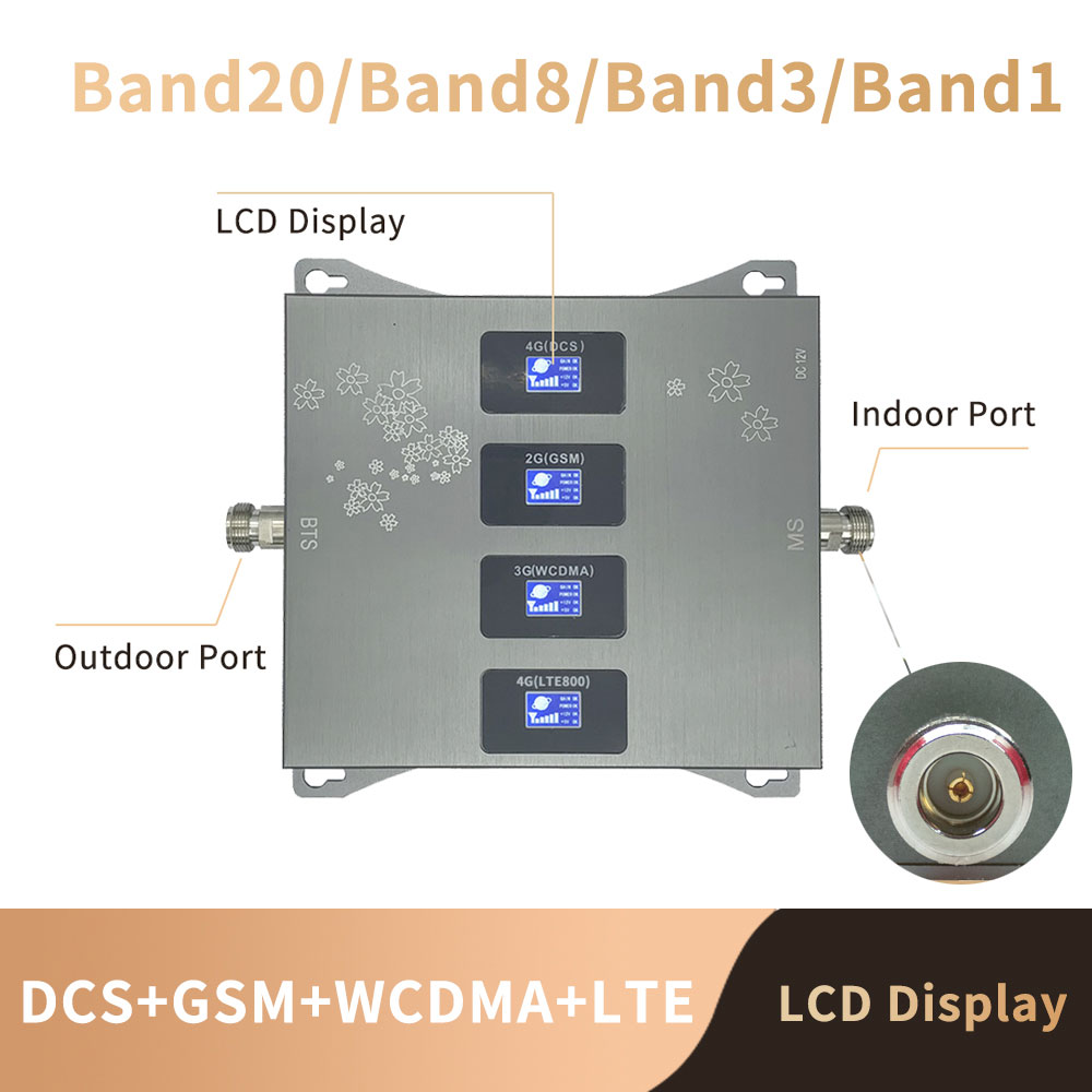B20 800 900 1800 2100 Mhz Cell Phone Booster Tri Band Mobile Signal Amplifier 2G 3G 4G LTE Cellular Repeater GSM DCS WCDMA Set 2