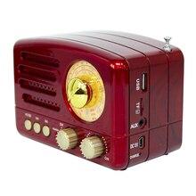 Портативный Bluetooth радиоприемник FM AM с антенной, ручной легкий, с ручной зарядкой Mini USB, с высокой чувствительностью, с TF картой, колонка со слотом