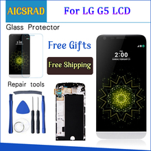 Дисплей для LG G5 ЖК сенсорный экран с рамкой дигитайзер для LG G5 ЖК сменный экран для LG G5 дисплей оригинальный 5,3 ''H850