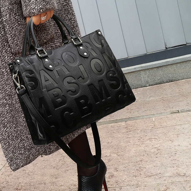 Casual Retro Big Women Handbag Leather Women Shoulder Bags Designer Women Messenger Bags Ladies Casual Tote Bags Sac A Main