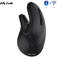 Jelly Comb Bluetooth Ergonomic Mouse Magic Vertical Wireless Bluetooth & 2.4G USB Mouse for Laptop Computer Tablet Slient Mice