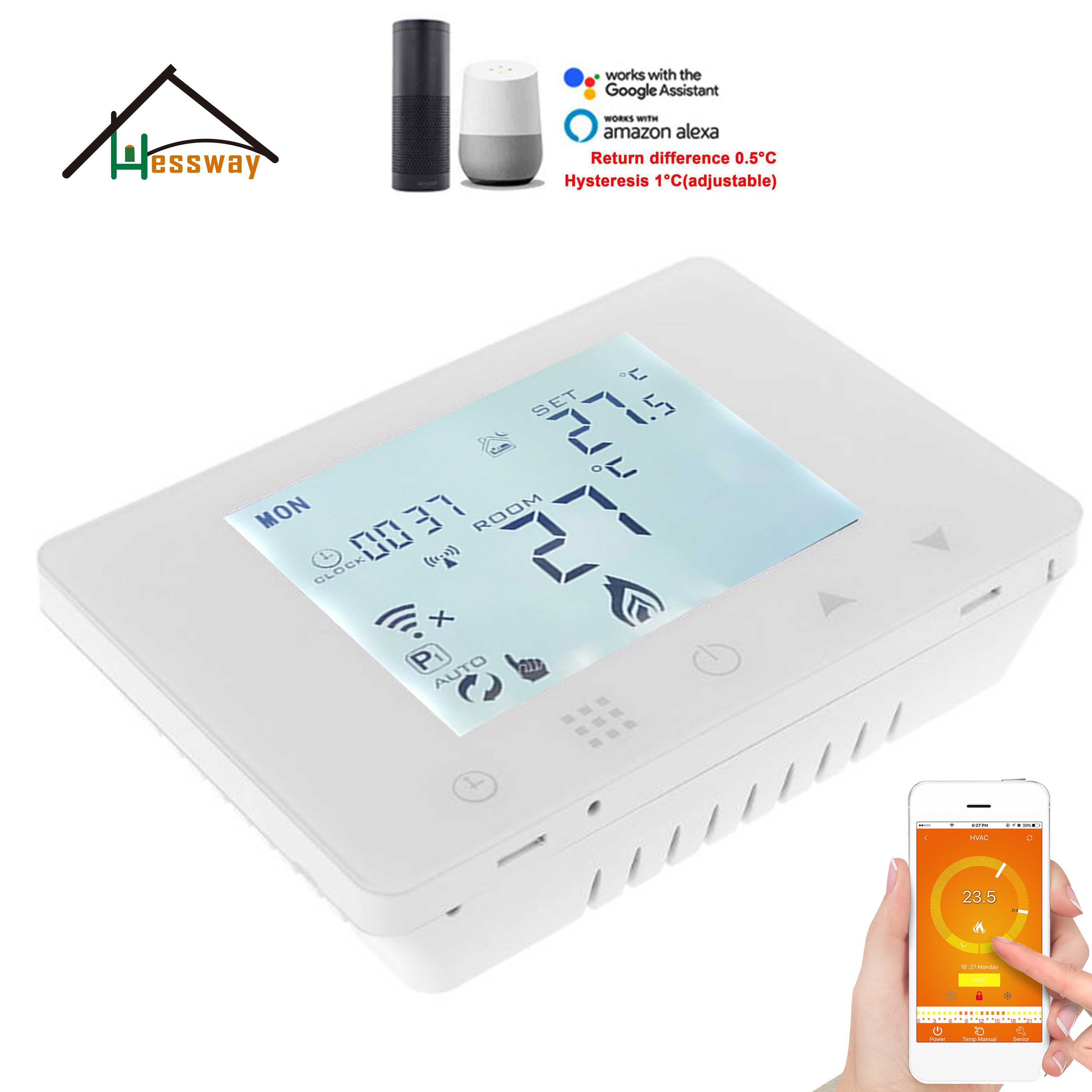TUYA APP wireless wifi & rf thermostat water floor heating,programmable thermostat for boiler,Electric heating