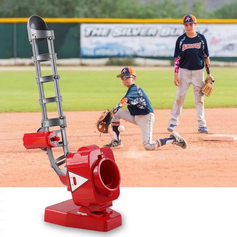 Спортивные игры детская бейсбольная пушка для мячей (Молодежная) Электронные медленные кувшин игрушки, мальчики и девочки T-Ball и софтбол Prog