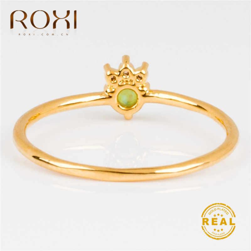 ROXI Crown Fire Opal Cho Nữ, Nhẫn Nữ Cưới Ban Nhạc Bèo Trắng Đính Đá Cubic Zirconia, Nhẫn Tặng Nữ Cao Cấp Roxi Trang Sức Anillos