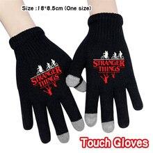 Очень странные дела зимние теплые сенсорный Экран перчатки для