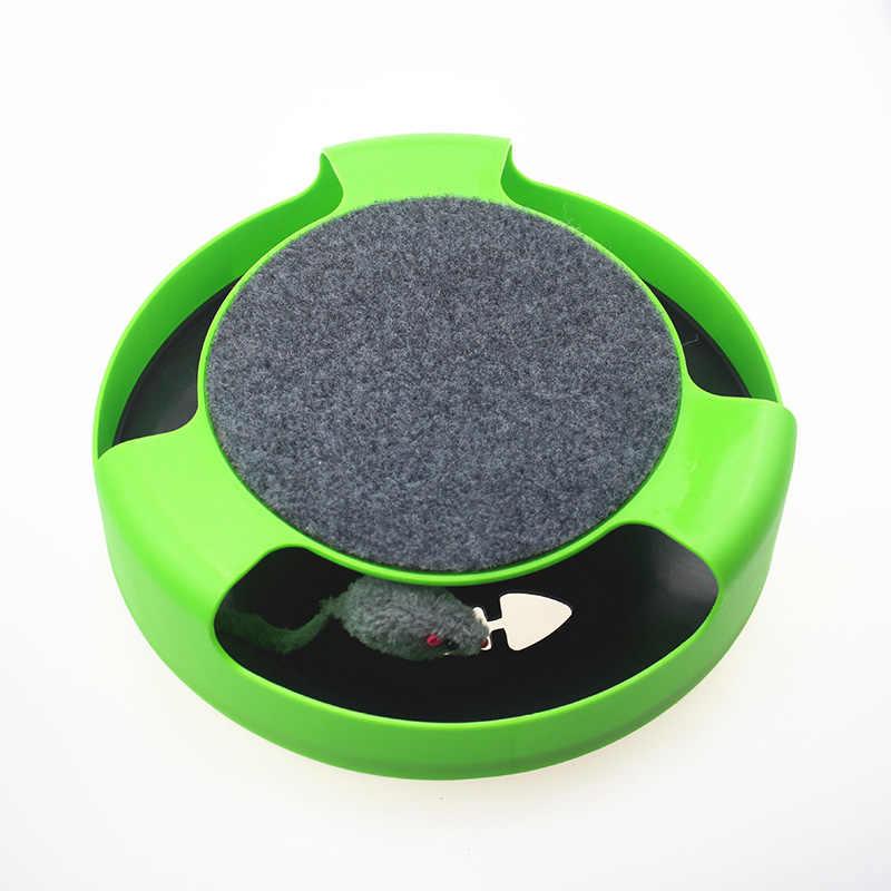 Pet automatyczna zabawka Tease koty interaktywna mysz działająca wzdłuż toru gramofon zabawka inteligentne dokuczanie kot kij szalona gra zabawka dla kota