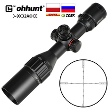 Отправка из России ohhunt 3-9X32 AOCE прицел для охотничьей винтовки 1/2 полумил точечный светящийся RG провод Сетка Блокировка