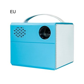 EU TYPE Projector true stereo super sense sound quality Projector HD 1080P home projector portable LED projectors PINK COLOR