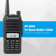 Baofeng BF-A58S High Power Tri-Band UVF10 8W CB Ham Radio LCD Display FM Transceiver 128CH Scanner Walkie Talkie