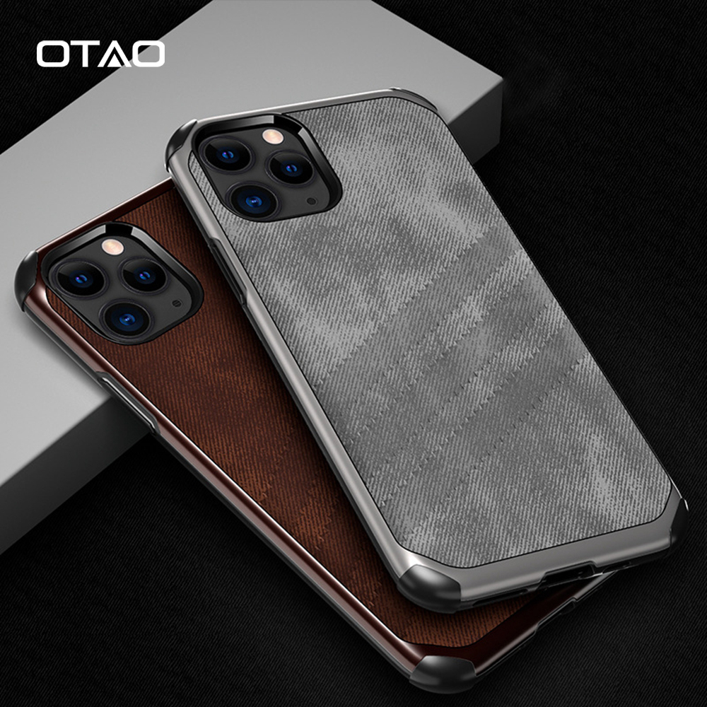 OTAO Fabric Cloth Texture <font><b>Case</b></font> <font><b>For</b></font> <font><b>iPhone</b></font> 11 Pro <font><b>MAX</b></font> TPU Bumper Shockproof <font><b>Armor</b></font> Capa Coque <font><b>For</b></font> <font><b>iphone</b></font> <font><b>XS</b></font> <font><b>MAX</b></font> XR <font><b>X</b></font> Airbag Cover image
