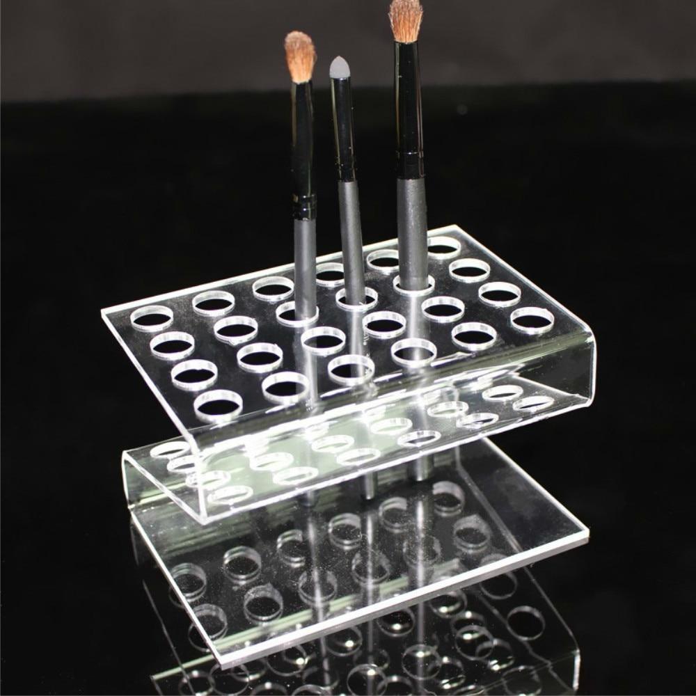 24 Grids Eyebrow Pencil Holder Lipstick Pen Positioning Frame Acrylic Makeup Organizer Multi Function Exhibition Holder