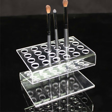 24 Grids Eyebrow Pencil Holder Lipstick Pen Positioning Frame Acrylic Makeup Organizer Multi Function Exhibition Holder