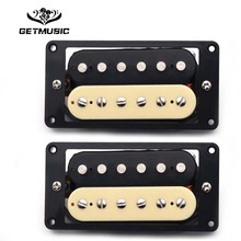 2 X Humbucker Double Coil Electric Guitar Pickups One Black One Cream sylvanian families бабушка и дедушка шоколадные кролики