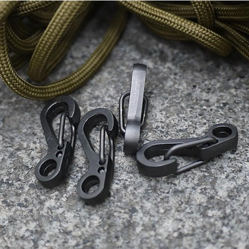 Carabineer Key-Chain Snap-Hook Survival-Buckle-Locking Aluminum-Alloy Hiking Outdoor title=