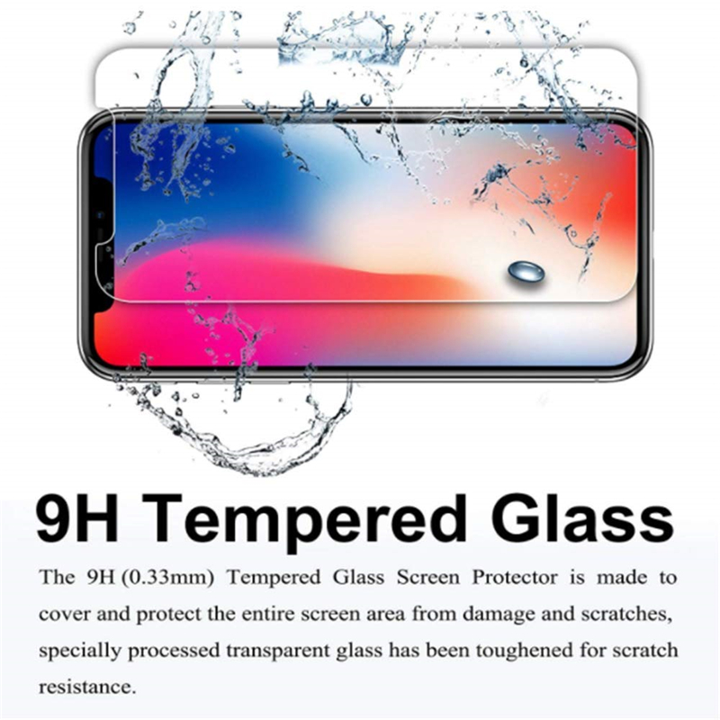 3PCS Clear Screen Protector Tempered Glass Case for iPhone 11 Pro XR XS MAX X 6