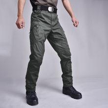 Pantalones militares de combate para hombre, ropa táctica de bolsillo múltiple, pantalones de chándal ajustados para entrenamiento de senderismo