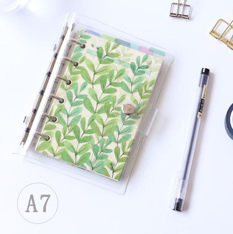 6Pcs/Set Original PP Transparent 6 Hole Colorful Index Page Notebook Ledger Page A5A6A7 Loose-leaf Partition Plate