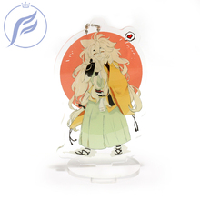 FANGQINGMAO 7cm Personalized Clear Border Acrylic Anime Charm Custom Stand with Any Design for Model Display