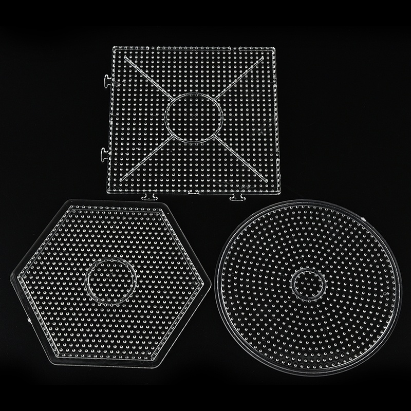 1 Pcs Square Round Hexagon Pegboards Transparent For 5mm Hama Beads DIY  Educational Toys For Kids