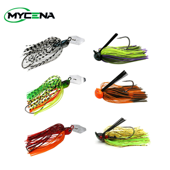 JonStar 12pcs/lot 7G/13G/16G chatterbait fishing lure Buzzbait chatter bait wobbler rubber skirt for bass pike walleye