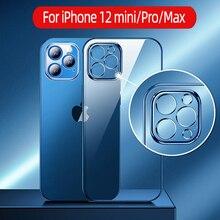 Прозрачный защитный чехол OUIO для iPhone 12 Pro Max, прозрачный чехол из ТПУ с защитой от пожелтения