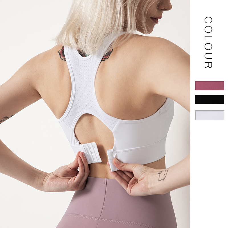 Classic New 2019 Gathering Shockproof Fitness Running Sports Vest Women Fashion Hollow Solid Color Beauty Back Yoga Bra