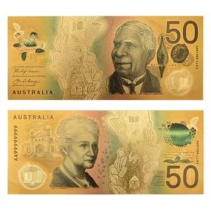 WR 5,10,20,50,100,Australian Dollar Fake Money Gold Banknote Paper Money Bill Bank Note for Original Gifts Dropshipping(China)