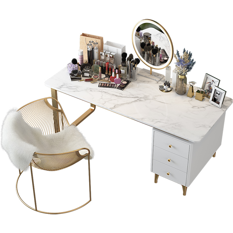 Nordic Marble Computer Desk Writing Top  Home Table Simple Creative Bedroom  Economy