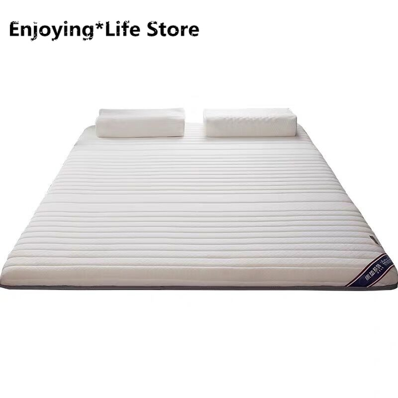 2020 Breathable Latex Mattress 4D Foldable Floor Tatami Adults Single Double Thick 6cm Comfortable Soft SpongeTopper Bedrooms