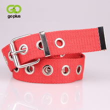 GOPLUS Brand Luxury Canvas Womens Belt Hollow Alloy Pin Buckle Tactical Male Fashion Punk Cowboy Cinturones Para Mujer