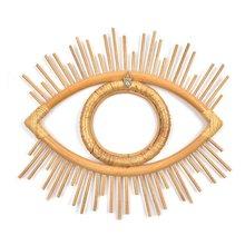 Декоративная зеркальная фоторамка в форме глаз художественный