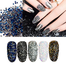 780 pièces/sac multi-taille verre ongles strass pour ongles Art décorations cristaux Partition mixte taille strass ensemble(China)