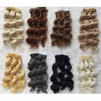 Pelucas de muñeca resistentes al calor a altas temperaturas de 15 cm pelo marrón dorado para 1/3 1/4 1/6 pelucas rizadas de muñeca BJD diy envío gratis